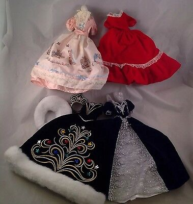 Lot of 4 Barbie Ball Gowns Dresses Clothes Clothing Dolls Holiday Peter Rabbit