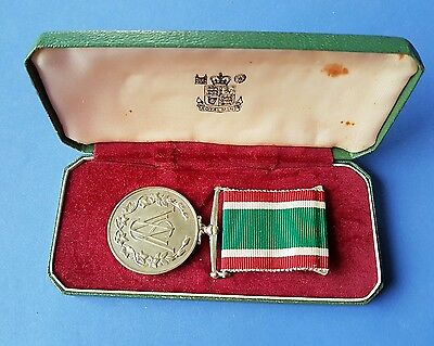 Women's Voluntary Service Medal, in case and with spare ribbon.