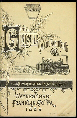 Nice Reprint Geiser Manufacturing 1889 Peerless Steam Engines Catalogue 64 Pages