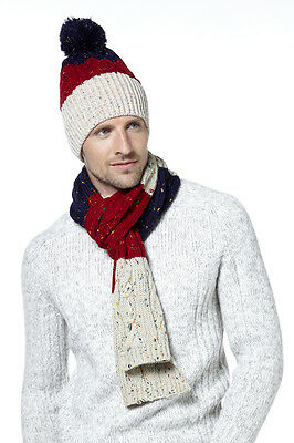 Mens Striped Hat And Scarf Set - Winter Accessories