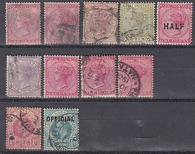 Natal Mixed Reigns Stamp Group