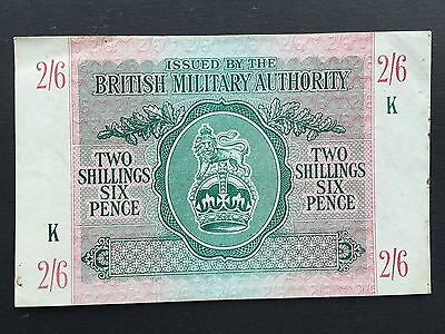 British Military Authority BMA 2 Shillings 6 Pence 2/6 PM3 Issued 1943 aEF