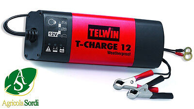 Telwin Caricabatterie T-Charge Weatherproof 12V 70Ah Portatile Per Auto Moto