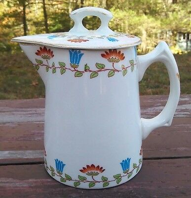 EDWIN M. KNOWLES CHINA Co. - ANTIQUE MILK PITCHER with LID