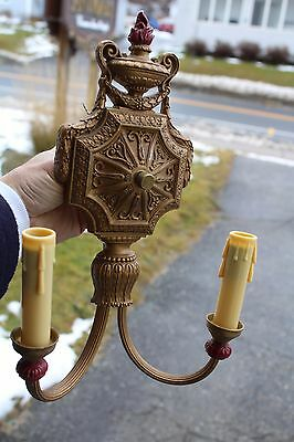 Antique Double Wall Sconce Art Déco Candle Style Look Tudor Arts & Craft Castle