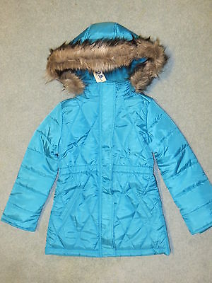 P.S. from Aeropostale Girl's winter coat - age 6-7 - azure - new