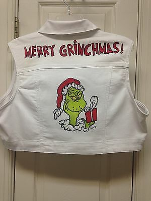 How The Grinch Stole Christmas Hand Painted Christmas Vest XL
