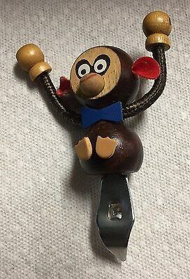 "Adorable 4-1/2"" Wooden Monkey Bar Can Opener"