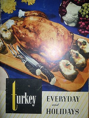 Vintage Turkey Everyday and Holidays Recipe Booklet 1940's