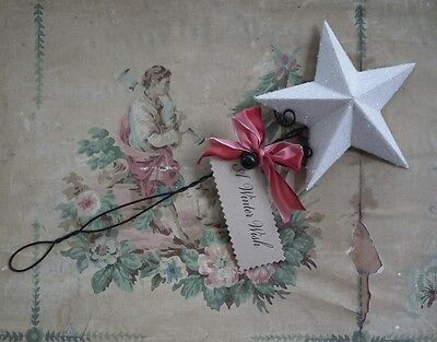 Wendy Addison WHITE ~GLITTER STAR WAND or FLORAL PICK~ Retired & NWT!