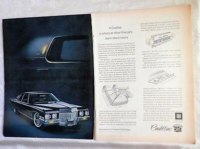 1971 Cadillac Fleetwood Sixty Special Brougham Magazine Advertisement