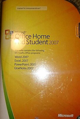 Microsoft Office Home and Student 2007 - GENUINE. please read listing.