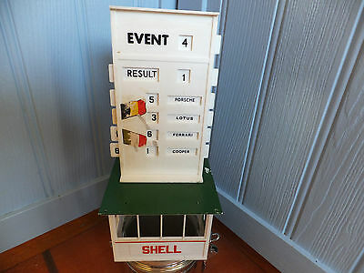 Vintage Tri-ang Scalextric Event Board A201 and Hut