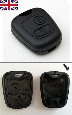 UK Seller NEW 2 Button Remote Key Fob Case Shell Cover for Peugeot 206