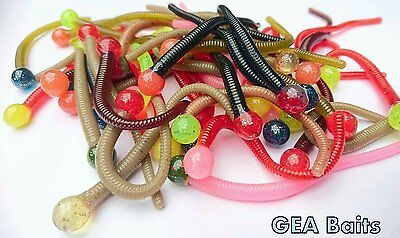 Super Powerbait Mice Tail 8 Colours 15 in Pack Trout Perch Pike Soft Baits lure