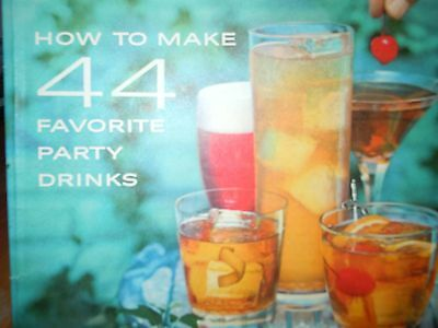 Vintage How To Make 44 Favorite Party Drinks Southern Comfort Recipe Booklet