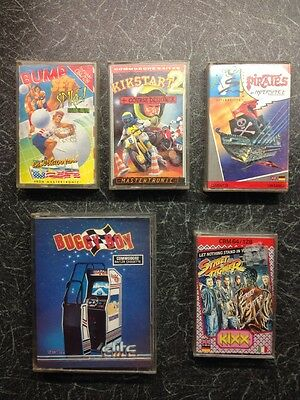 Commodore 64/128 Retro Video Game Cassettes (Street Fighter / Buggy Boy)