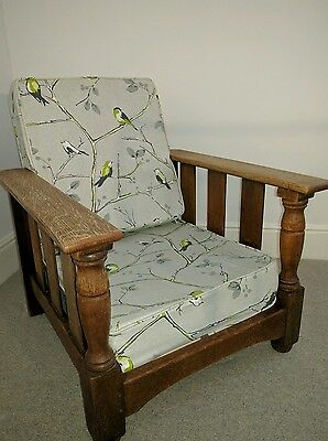 Lovely vintage armchair in prestigious fabric- arts and crafts style