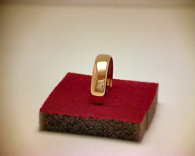 Antique 9ct Rose Gold, Wedding Band Ring, Size 'S'. 5mm.