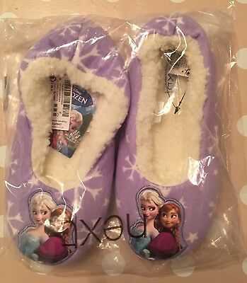 Next Disney Frozen Lilac Child's Slippers SIZE 3 UK 35.5 EUR-Anna Elsa