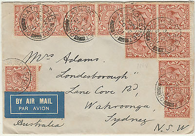 Great Britain 1931 Kgv Airmail Cover To Australia