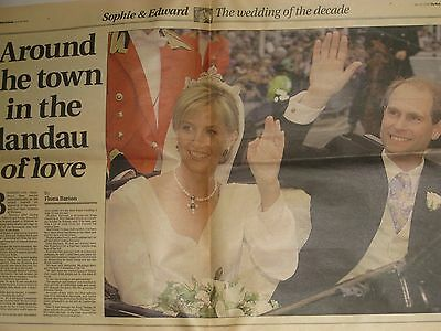 Edward & Sophie. The Mail On Sunday 12 Page Souvenir Pull-Out. 20/06/99