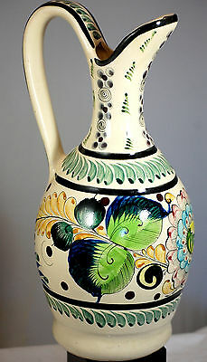 Large Mexican Art Pottery Decorative Pitcher Vase Urn