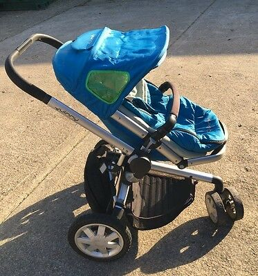 Quinny Buzz graphite and blue Pushchair Single Seat Stroller