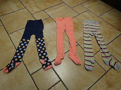 Three pairs of tights for 2-3 year old girl