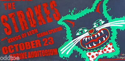 The Strokes Poster Concert w/ Kings Of Leon 2003 S/N Michael Michael Motorcycle
