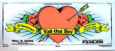 FALL OUT BOY Concert Poster All American Rejects ORIGINAL 2006