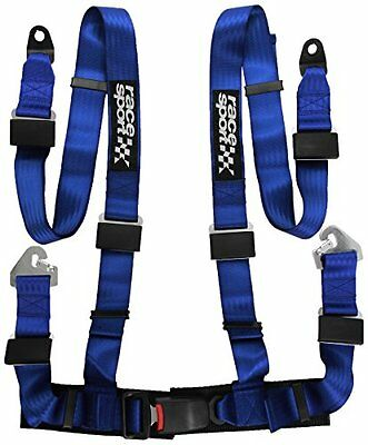 Sumex Belt100 Race Sport - Cintura Sicurezza Racing 4 Punti, Blu