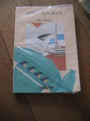 Machine Knitter's Book Brother KH 950i Knitting Guide Instructions Manual g/con