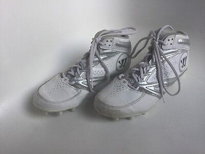 Warrior Men's Lacross/ Football Burn 2nd Degree Cleats Size 7 Mens White Shoes