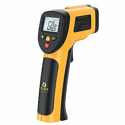 FIXKIT Digital Laser Infrared Thermometer, Non-contact Accurate Surface Gun MAX
