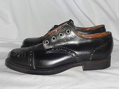 Vintage Deadstock CROWN by Peterman Boys Leather Cap Toe Oxford Shoes BOX
