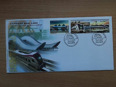 Malaysia 2002 KL Sentral Station, Express Rail Link FDC