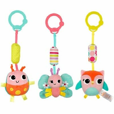 Bright Starts Pretty in Pink Chime Along Friend, Baby Toy, Pram Toy, Baby Rattle