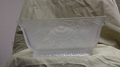 Beautiful Antique Art Deco Verlys Frosted Crystal Bowl