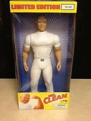 NIB Vintage Limited Edition Mr. Clean Action FIgure Doll 2000