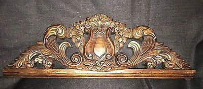 Beautiful Elegant Hand carved wooden Topper/Over Door Shell  Wood