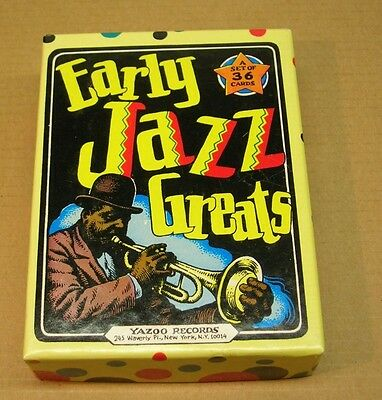 Early Jazz Greats Trading Cards, R.Crumb artist,36 card complete set,Yahoo Rec.
