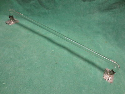 "vtg Clear Bent Glass 18"" Towel Rod w/wall mount and screws"