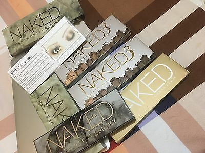 Professional Smoky 1 2 3 For Naked Eyeshadow palette All 4 In One Set.