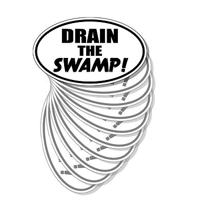 Pro Trump - Conservative - Drain the Swamp Ovals - Sticker Decal 10 Pack D&