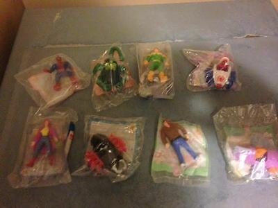 McDonald's Happy Meal Toy Spiderman ANIMATED SERIES Complete Set of 8