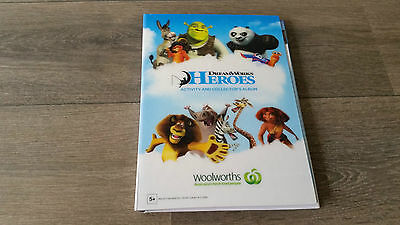 Woolworths Heroes DreamWorks Collection Album Card Set