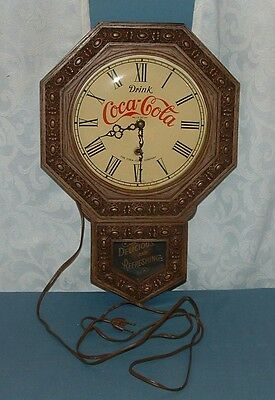 1970's Drink Coca Cola Wall Clock - Coke - Used - Made In Usa