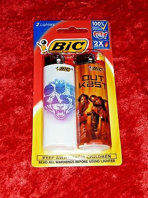 BIC Special Edtion 2x Lighters!! Outcast Design! Factory Sealed! NICE!