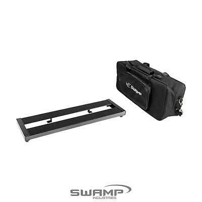SWAMP Small Guitar Effect Pedal Board Bridge with Padded Carry Bag 50x13.5cm